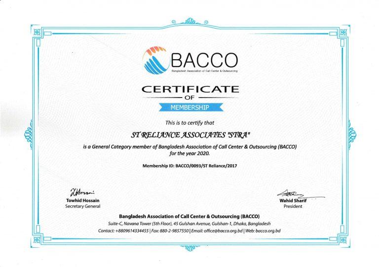 BACCO-Membership-2020-STRA-ST Reliance-Associaties